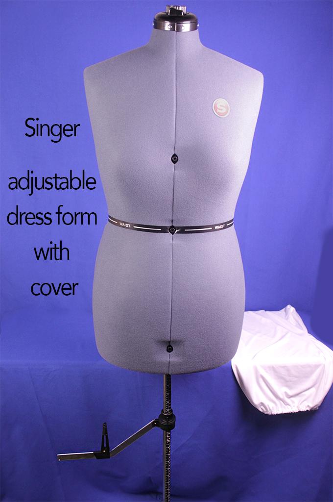 Singer adjustable dress form with cover.