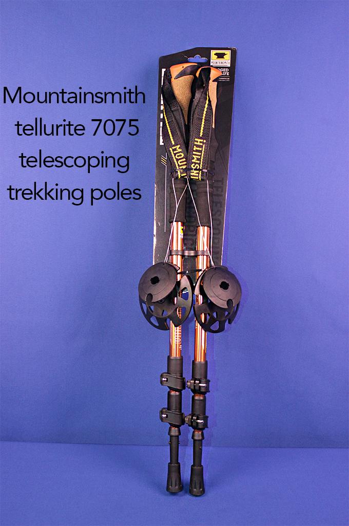 Mountainsmith tellurite 7075 telescoping trekking poles.