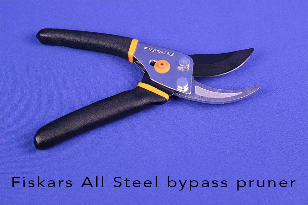 Fiskars All Steel bypass pruner.