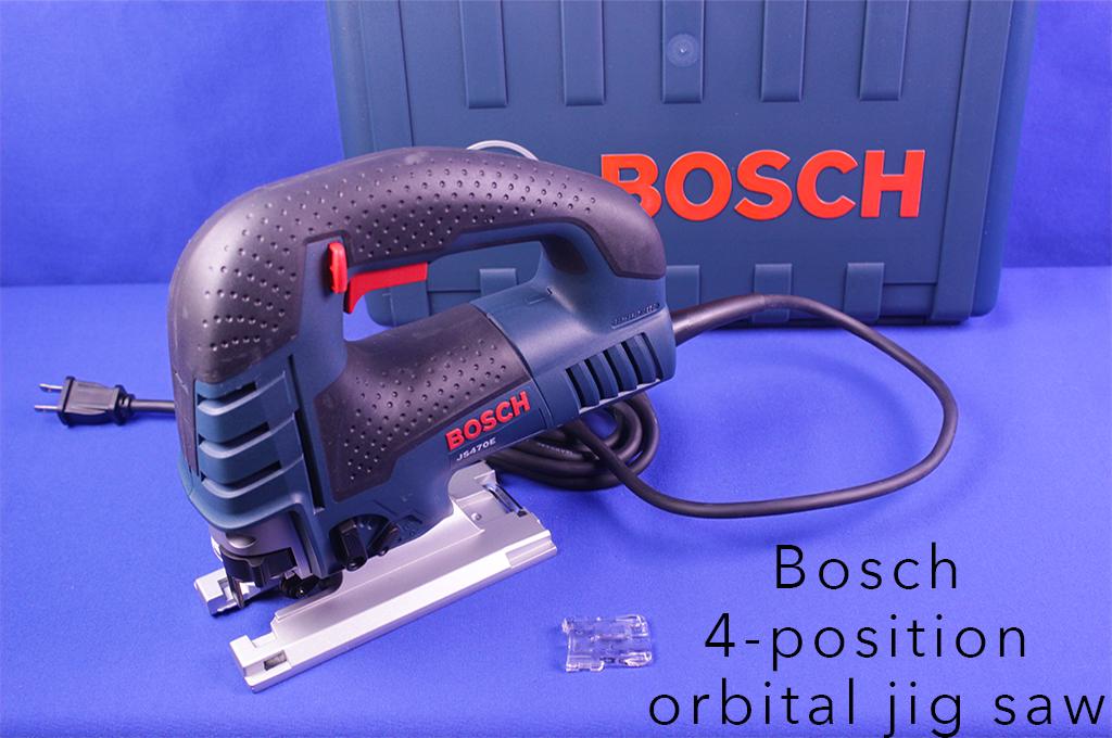 Bosch 4-position orbital jig saw.