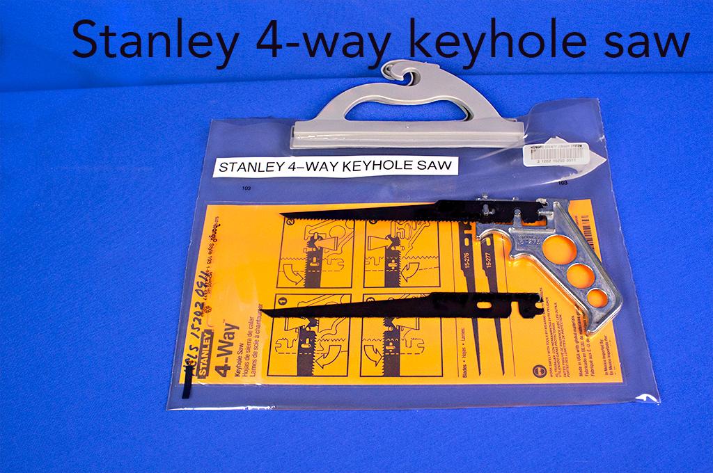 Stanley 4-way keyhole saw.