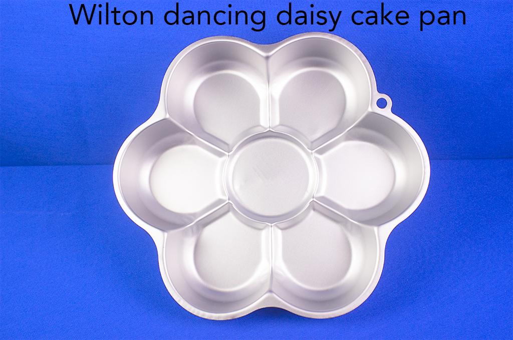 Wilton dancing daisy cake pan.