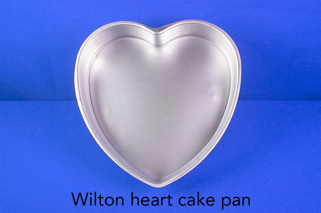 Wilton heart cake pan.