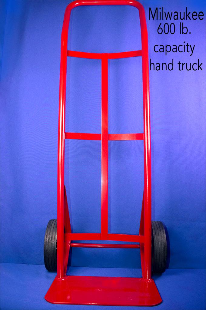 Milwaukee 600 lb. capacity hand truck.
