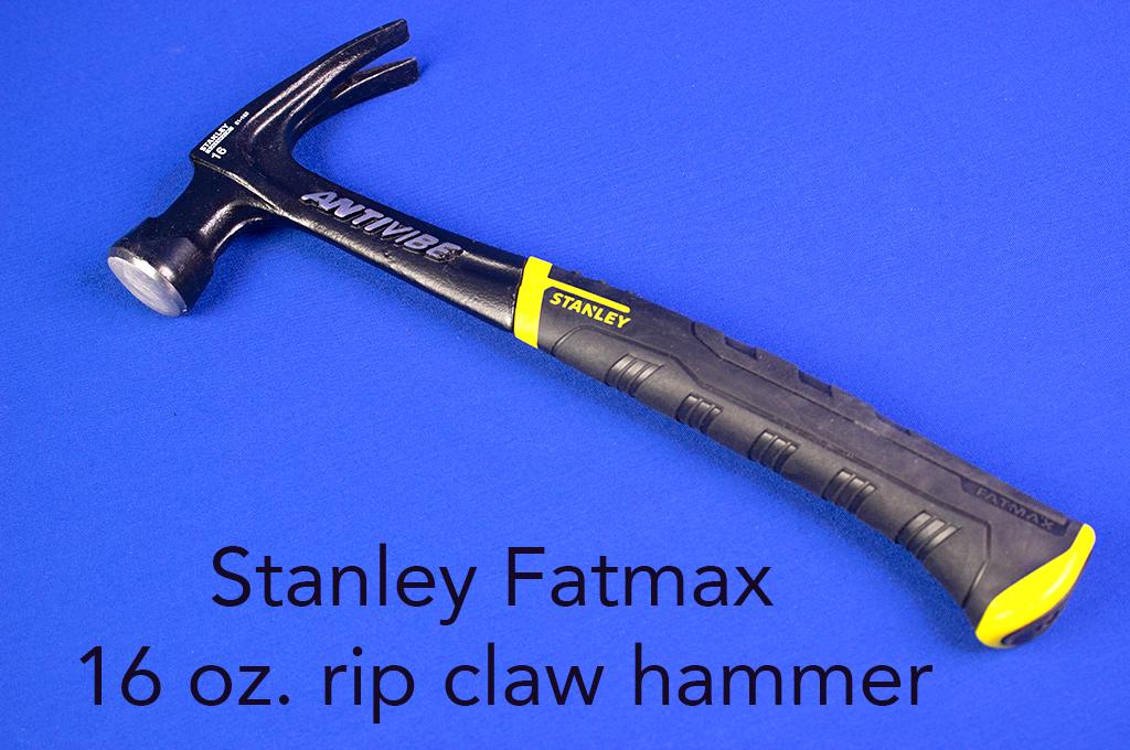 Stanley Fatmax 16 oz. rip claw hammer.