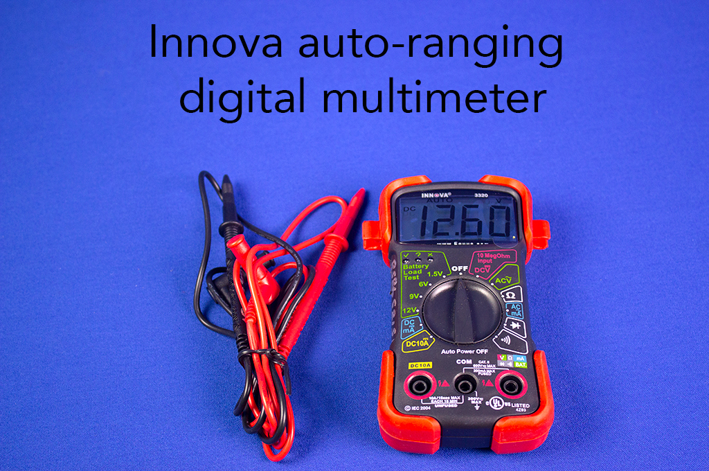 Innova auto-ranging digital multimeter.