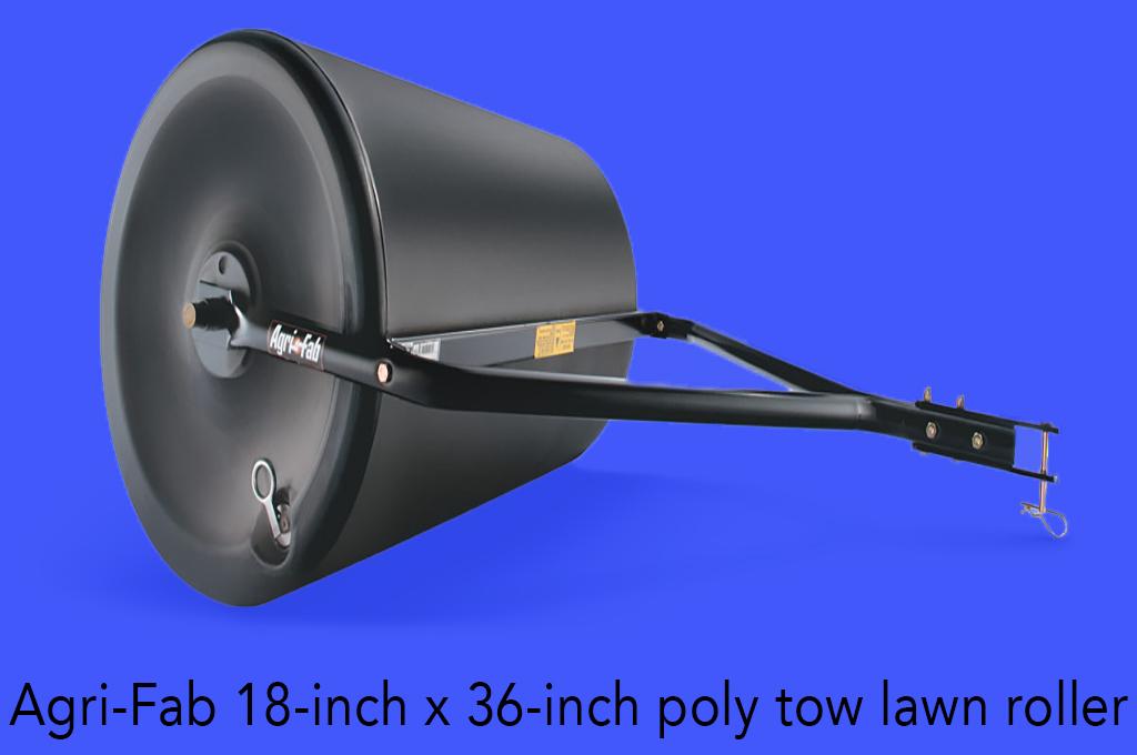 Agri-Fab 18-inch x 36-inch poly tow lawn roller.