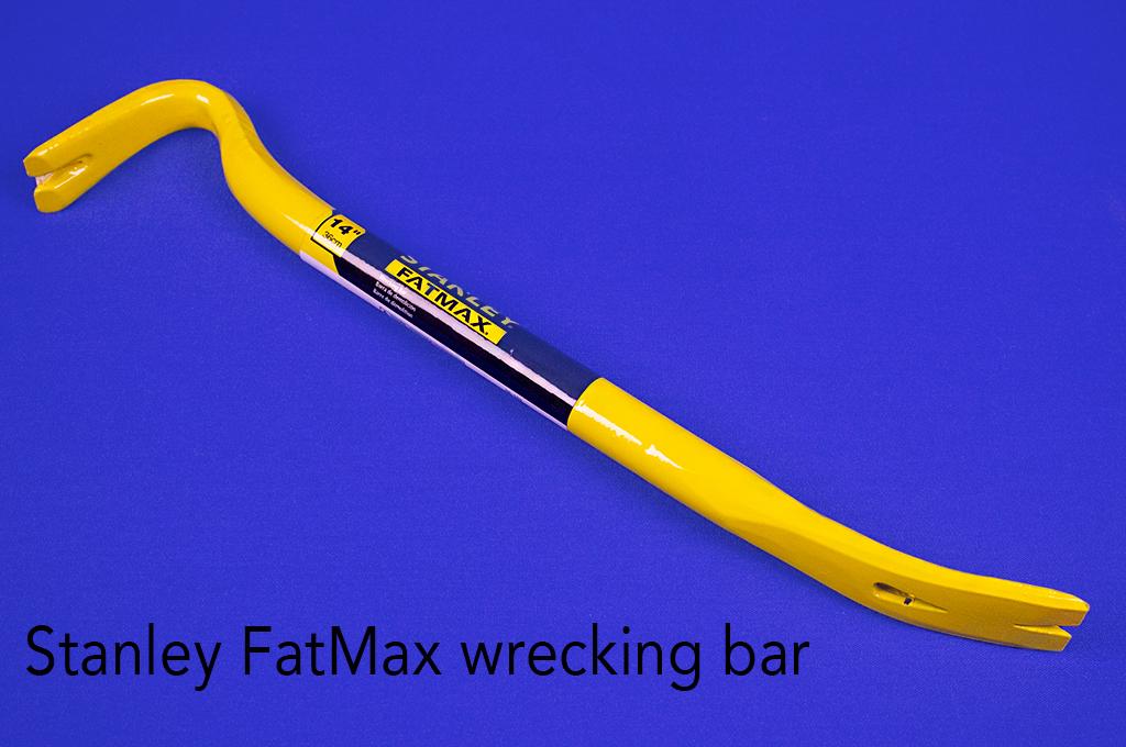 Stanley FatMax wrecking bar.