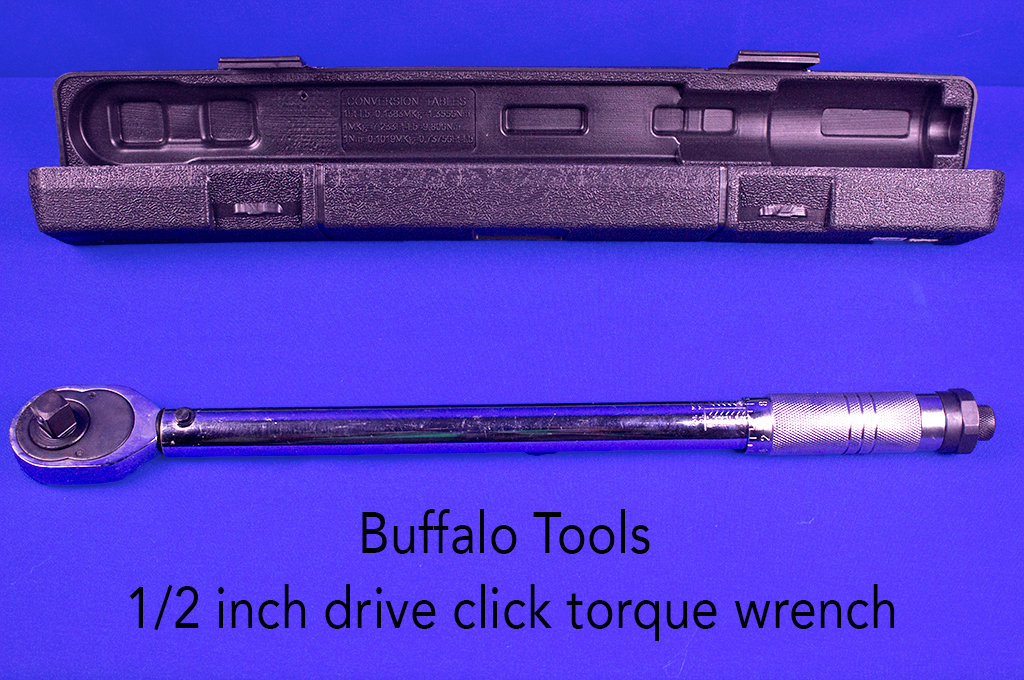 Buffalo Tools 1/2 inch drive click torque wrench.