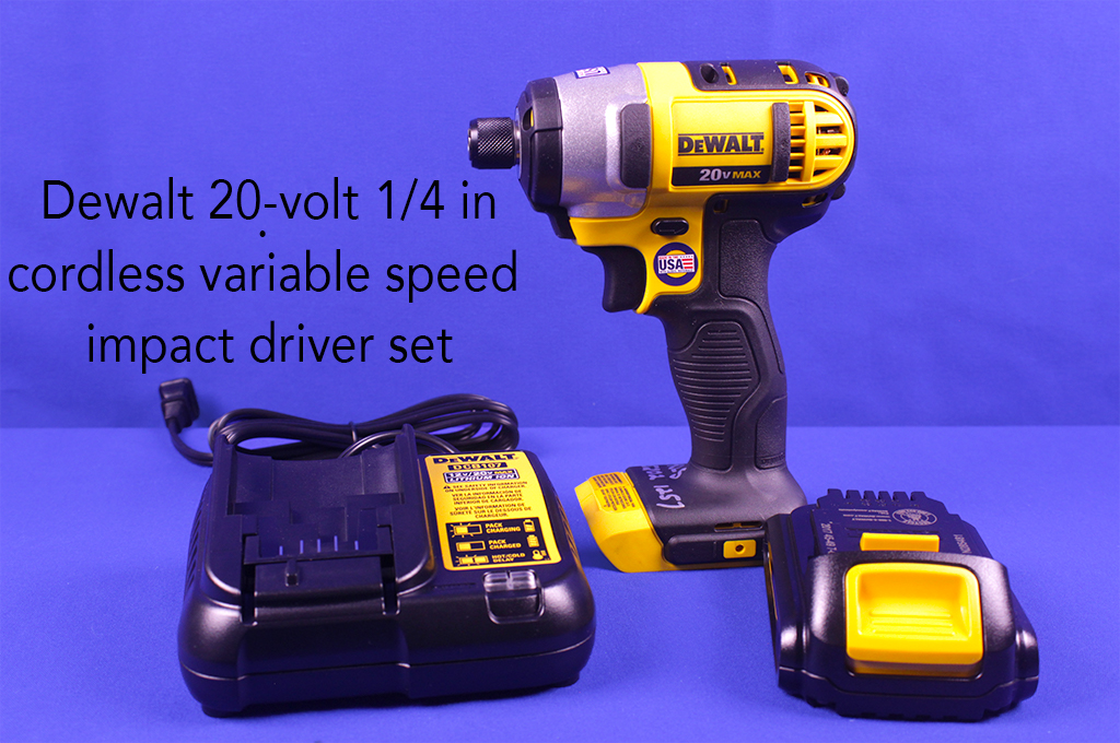 Dewalt 20-volt 1/4 in. cordless variable speed impact driver set.