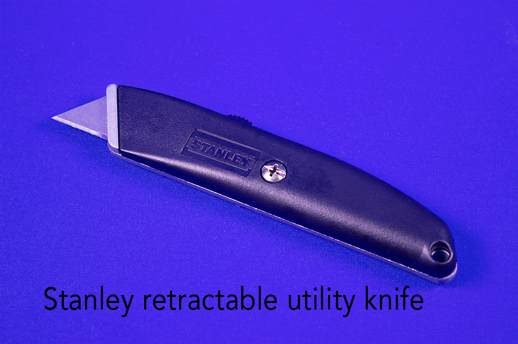 Stanley retractable utility knife.
