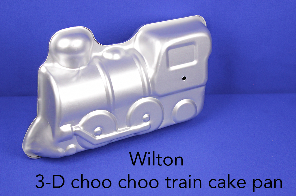 Wilton 3-D choo choo train cake pan.