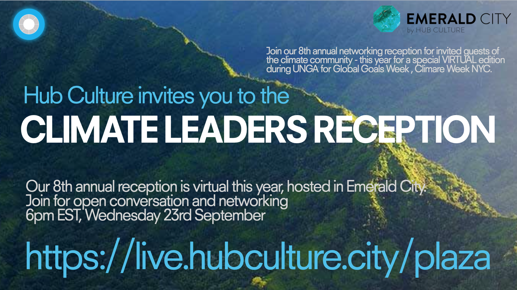Join us for our 8th annual Climate Leaders Reception (a special VIRTUAL edition)