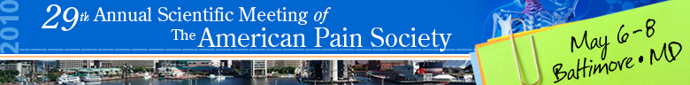 The American Pain Society's (APS) 29th Annual Scientific Mee