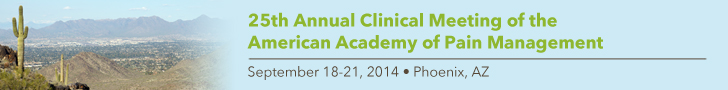 American Academy of Pain Management 25th Annual Clinical Mee
