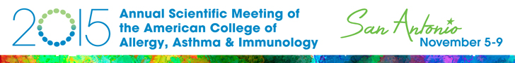 2015 American College of Allergy, Asthma, and Immunology Ann
