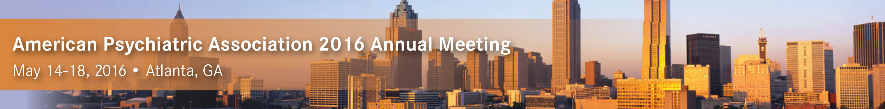 American Psychiatric Association 2016 Annual Meeting
