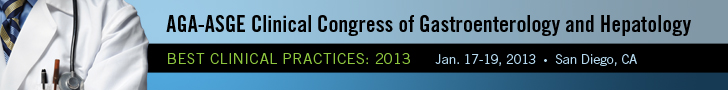 AGA-ASGE 2013 Clinical Congress of Gastroenterology and Hepatology