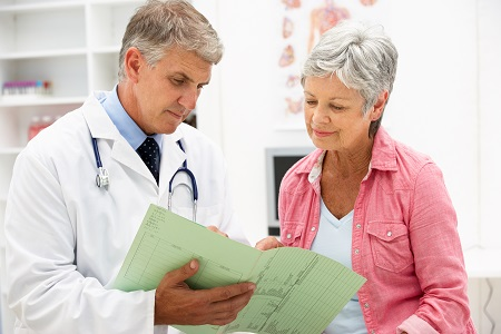 Menopause patient with doctor