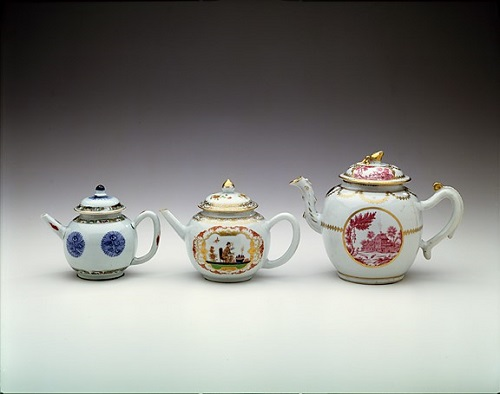 Collection of three teapots