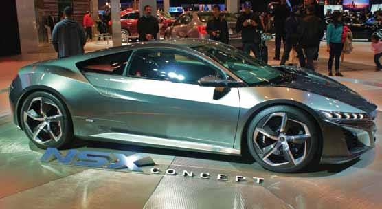 Best in class 2013 new york auto show acura showcased its new concept nsx supercar the car isnt expected to hit showrooms until 2015 and will be set up to enable electric or gas only driving publicscrutiny Gallery