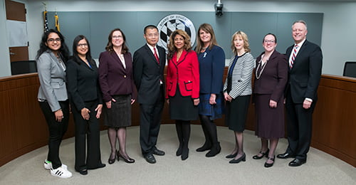 2018 Board of Education group photo.
