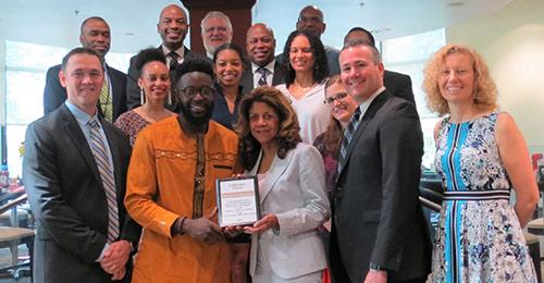 Celebration Church partnership signing group photo.