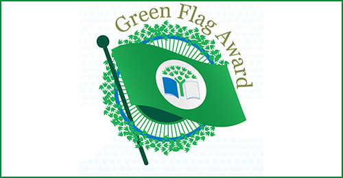 Logo with text: Green Flag Award