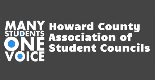 Logo with text: Many students one voice howard county association of student councils.