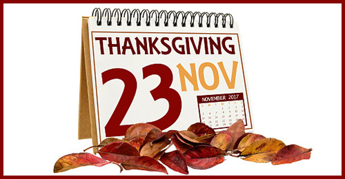 Calendar with November 23.