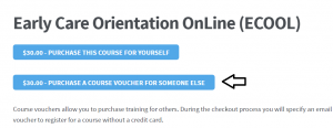 image of the voucher button with an indicator arrow