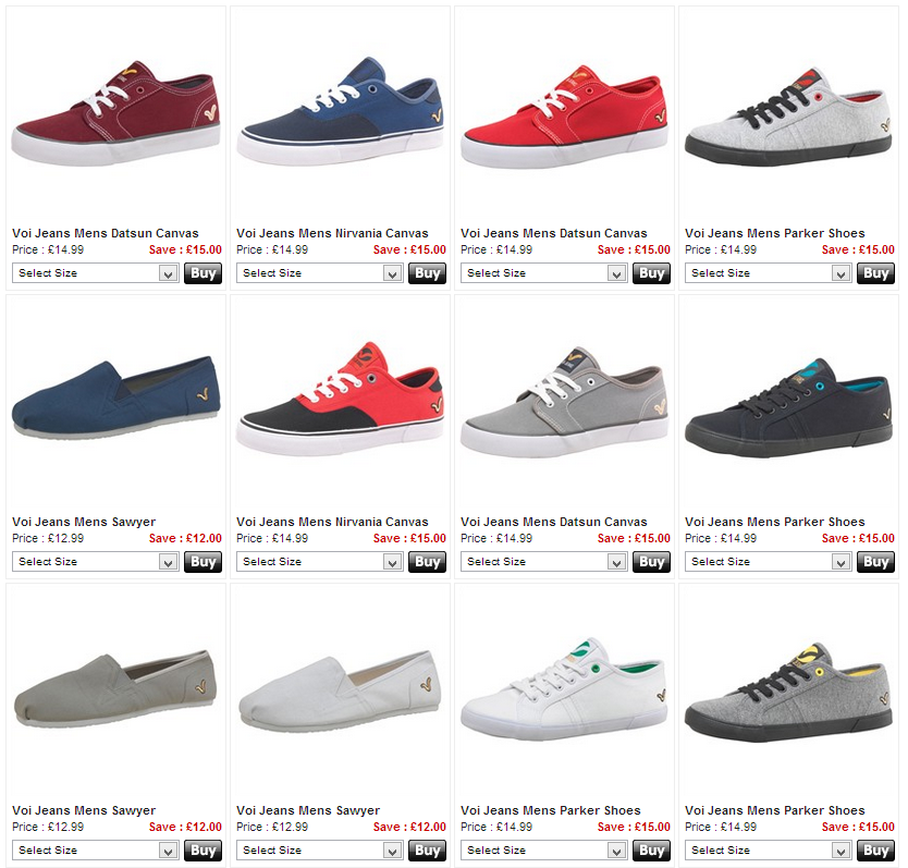 Get your perfect pair of Voi footwear - MandmDirect