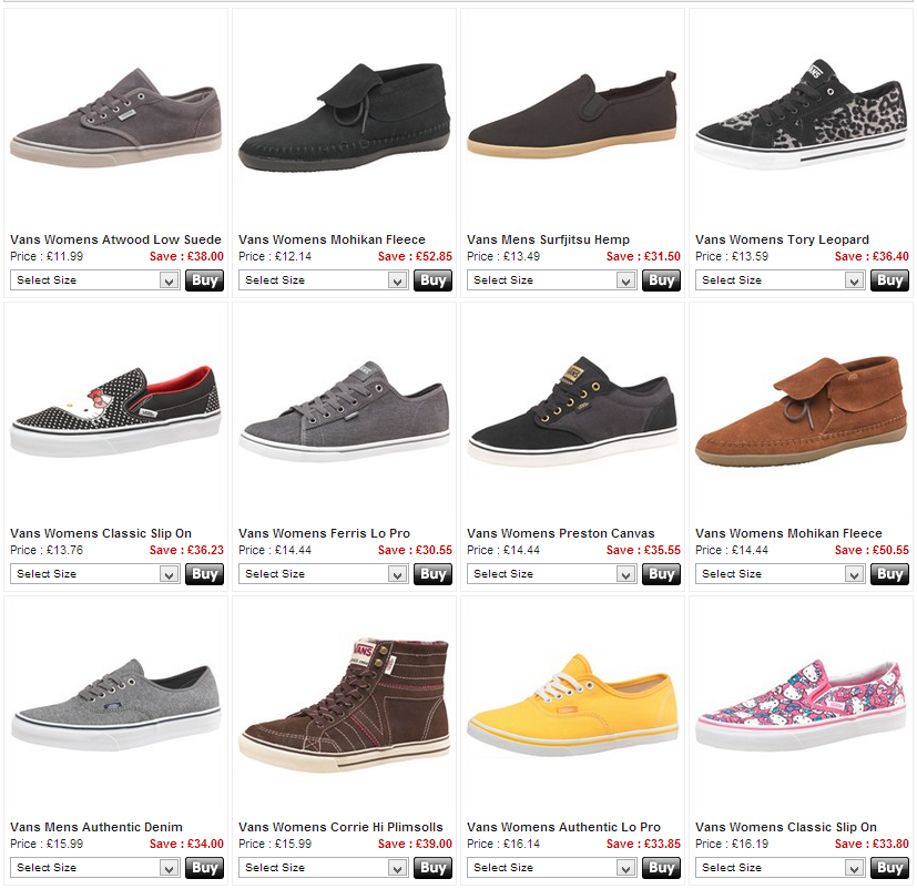 5567ae0ffc9af2 Prices For  Prices For Vans