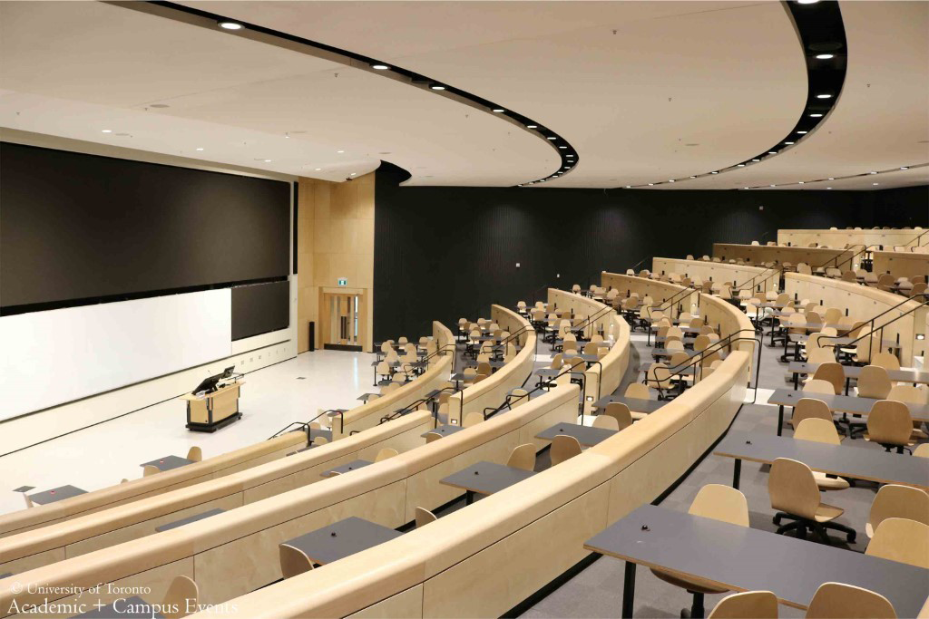 U of T auditorium-style classroom