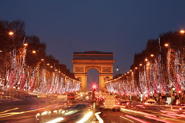 Paris in december - Champs Elysees
