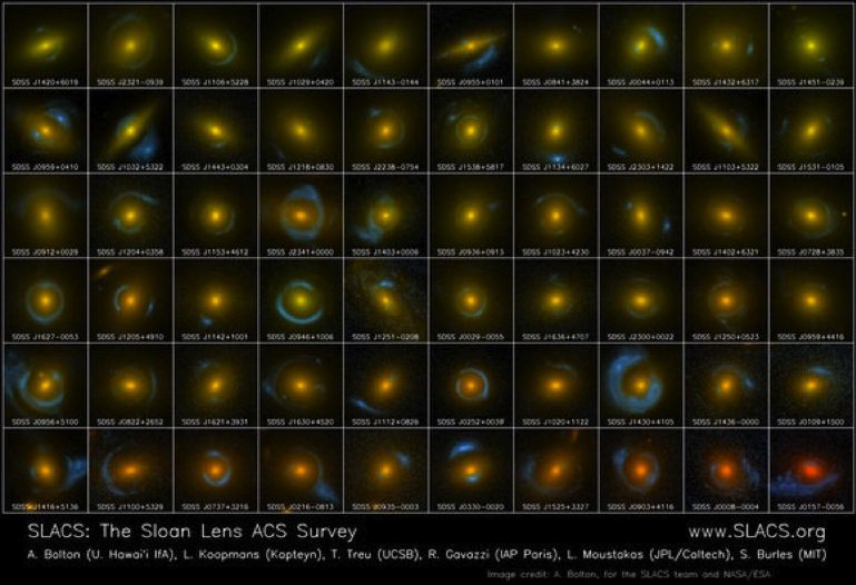 gravitational lensing, lensed galaxies, physics, space science, cosmos - HeadStuff.org