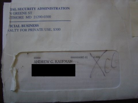 A letter from the National Security Administration addressed to Andy Kaufman, Andrew G. Kaufman - HeadStuff.org