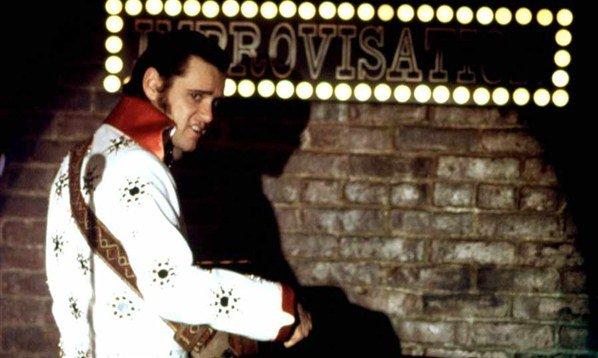 Jim Carrey playing Elvis Presley as Andy Kaufman - HeadStuff.org