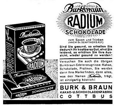 Radium Chocolate, Marie Curie, Radioactive, radium - HeadStuff.org