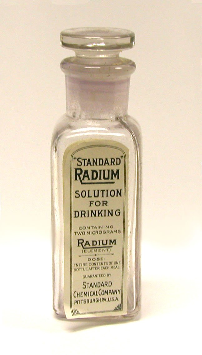 Radium Solution for Drinking, Marie Curie, Radioactive, radium - HeadStuff.org
