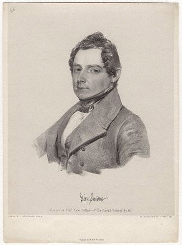 Dionysius Lardner, Thomas Bridgford, Portrait, Illustration, Scientist, populist, 1833, 20th century academic - HeadStuff.org