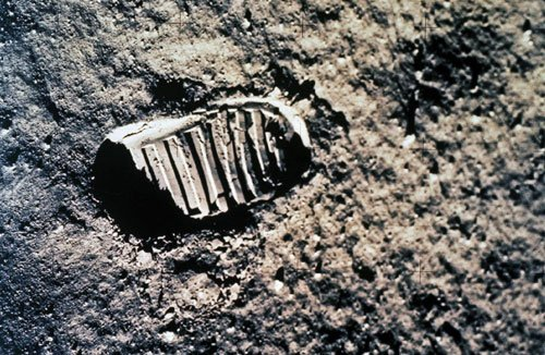 Footprint On The Moon Neil Armstrongs Landing Apollo 11 1969