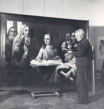 Van Meegeren trial, Han Van Meegeren, Dutch Painter, dutch forger, art forgery, fraud, fake art, criminal, world war two, wwii, vermeer, trial, nazi, museum - HeadStuff.org