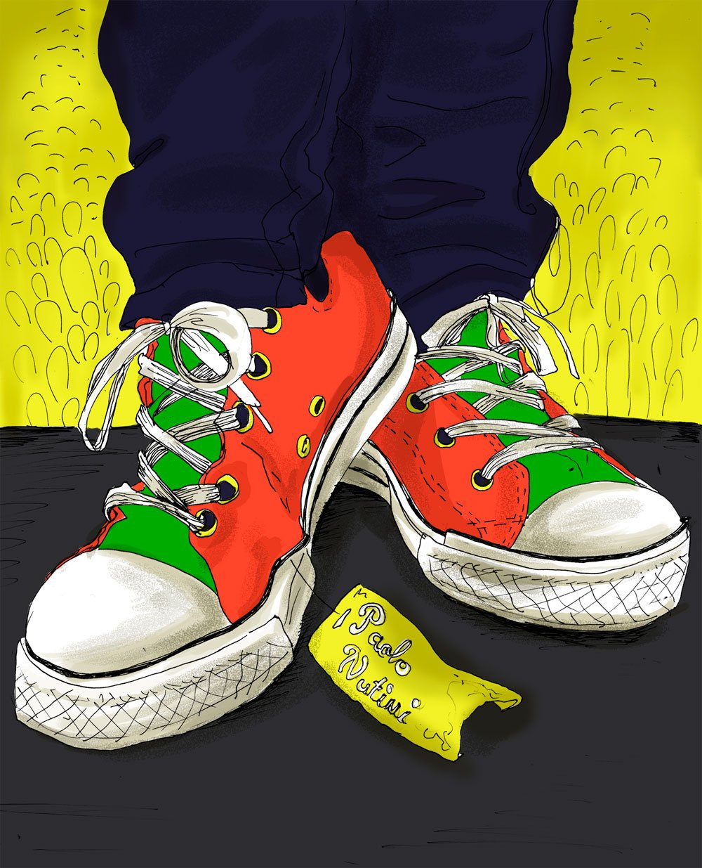 Paolo Nutini, new Shoes, sunny side up, helena grimes, illustration, artwork, fan art, design, electric picnic, EP 2014 - HeadStuff.org