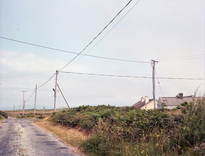 Irish road and wires, ireland countryside, electric wires and phonelines, west of ireland, rural ireland, Things Were Better Then, Ruth Connolly, Photography, photographer, artist - HeadStuff.org