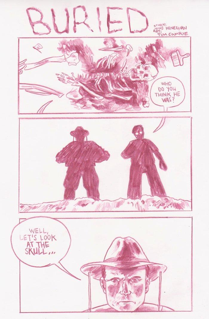 Five Hour Breakfast, Mike Heneghan, comic strip, dark, funny, comics, buried - HeadStuff.org