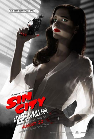Sin City 2, Sin City: A Dame to Kill For, frank miller, comic book movie, sexy, jessica alba, eva green, joseph gordon-levitt, sequel, 2014, 2005, misogynist, sexist, bad, shallow - HeadStuff.org