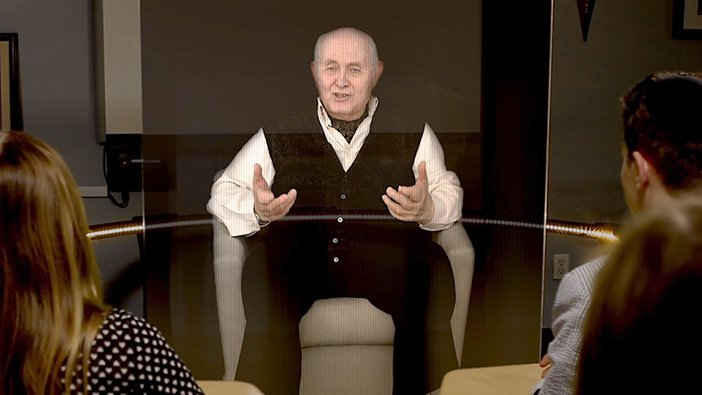 Hologram, holocaust survivor, New Dimensions technology project, Pinchas Gutter, hologram of holocaust survivor, Rest in Pixels, Morna O'Connor, Digital Death, Digital memories, how will you be remembered - HeadStuff.org