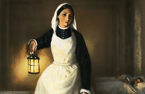 Florence Nightingale, the lady with the lamp, statistician, pie chart, rose chart, sanitation, hospital reform, hygiene, germs, stats, nurse, nursing reform, legend, drawing, cartoon - HeadStuff.org