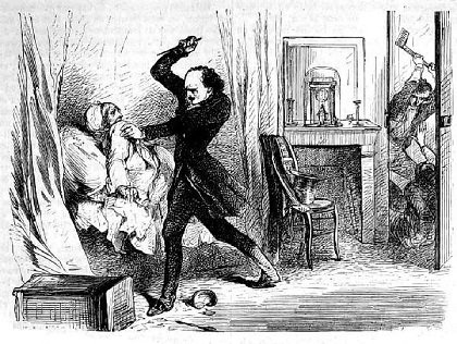 A depiction of the murder of the Chardons, in the papers during Lacenaire's trial, Jean-Francais Chardon, Murder, theft, the elegant criminal, Lacenaire, terrible person from history - HeadStuff.org
